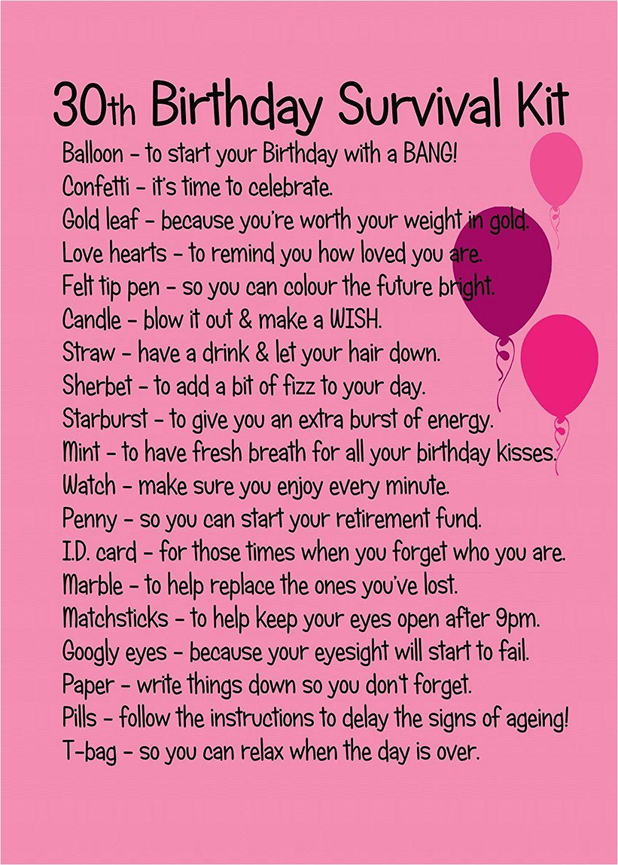 30th birthday survival kit pink birthday pinterest
