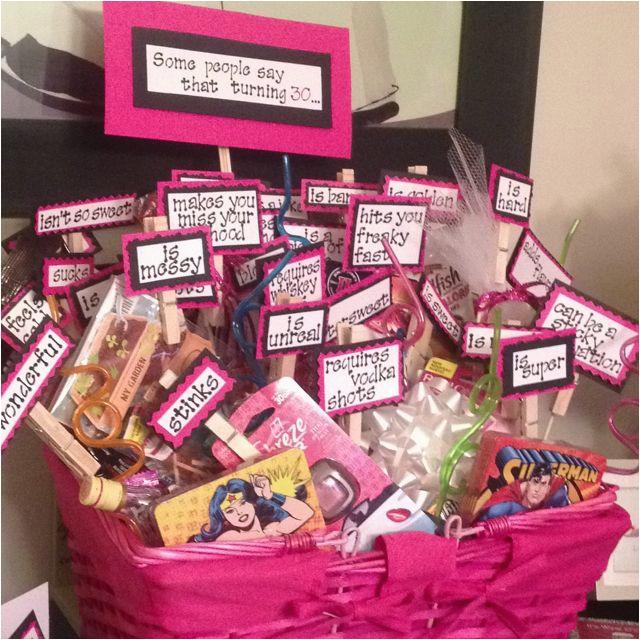 Birthday Gift Ideas For Her 25th Turning 30 Birthday Basket Crafts
