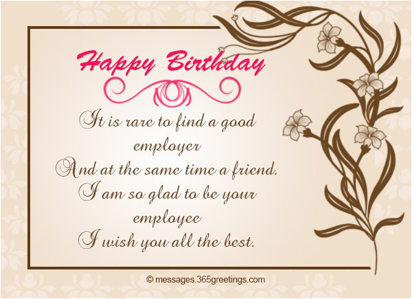 Birthday Greeting Card For Boss Wishes 365greetings Com
