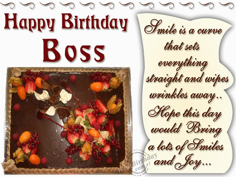 Birthday Greeting Card For Boss Wishes Quotes Quotesgram