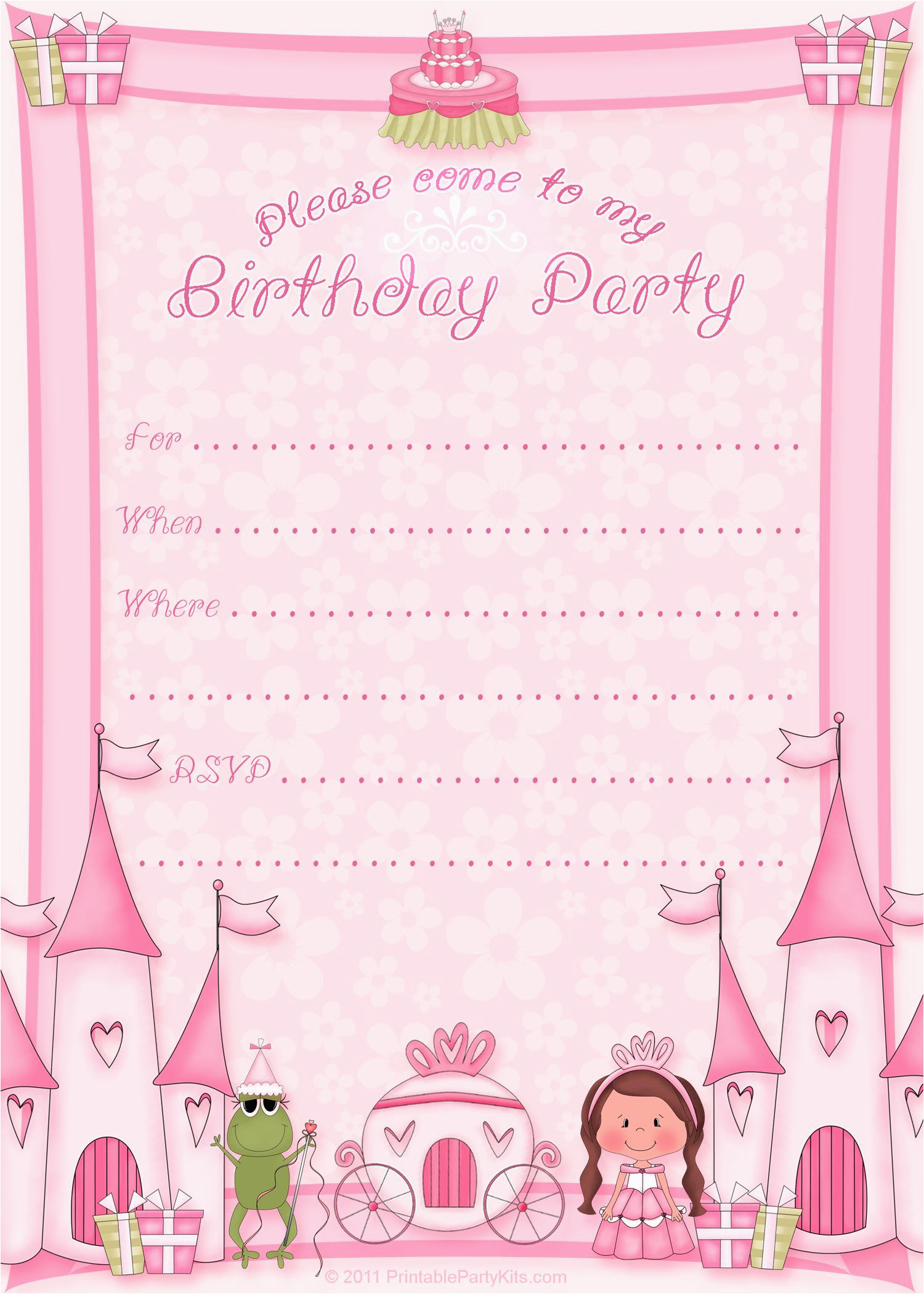 Birthday Invitation Card Maker Free Party Invitations Templates