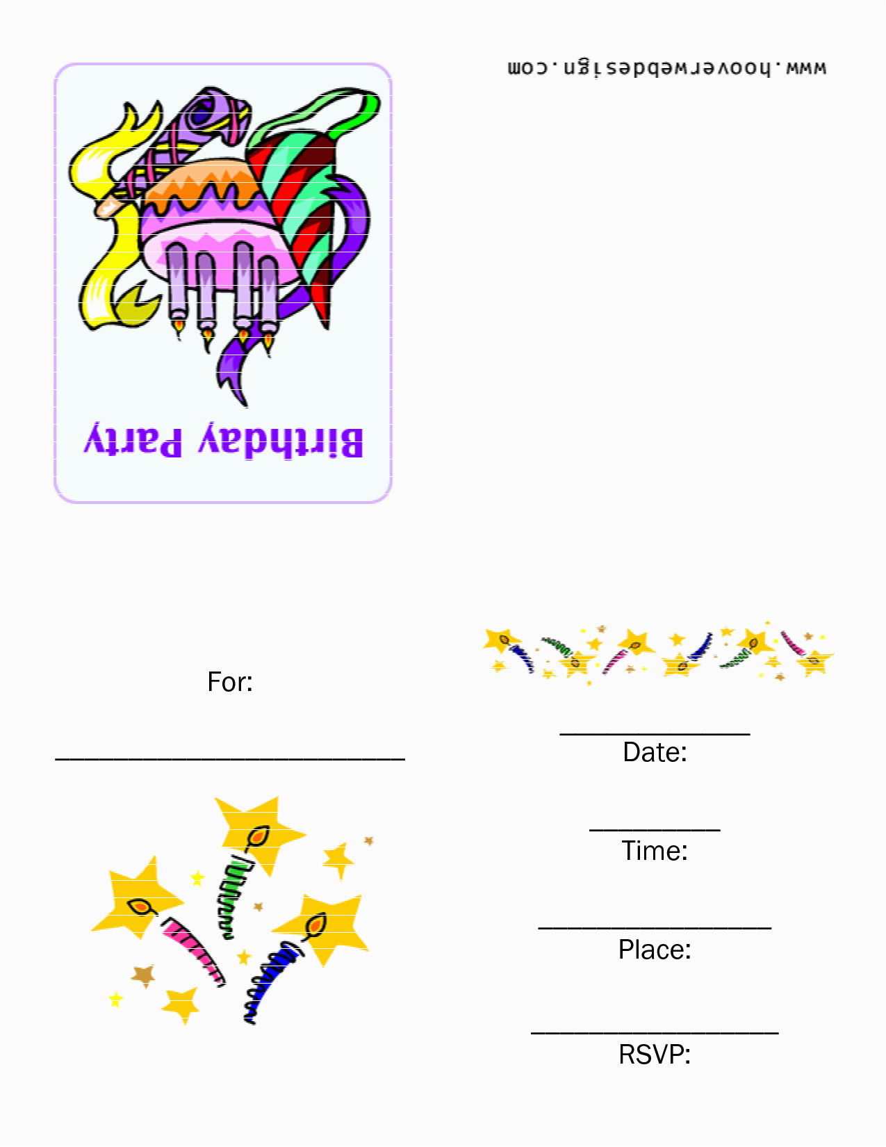 Birthday Invitation Cards Online Free Printable Template Best