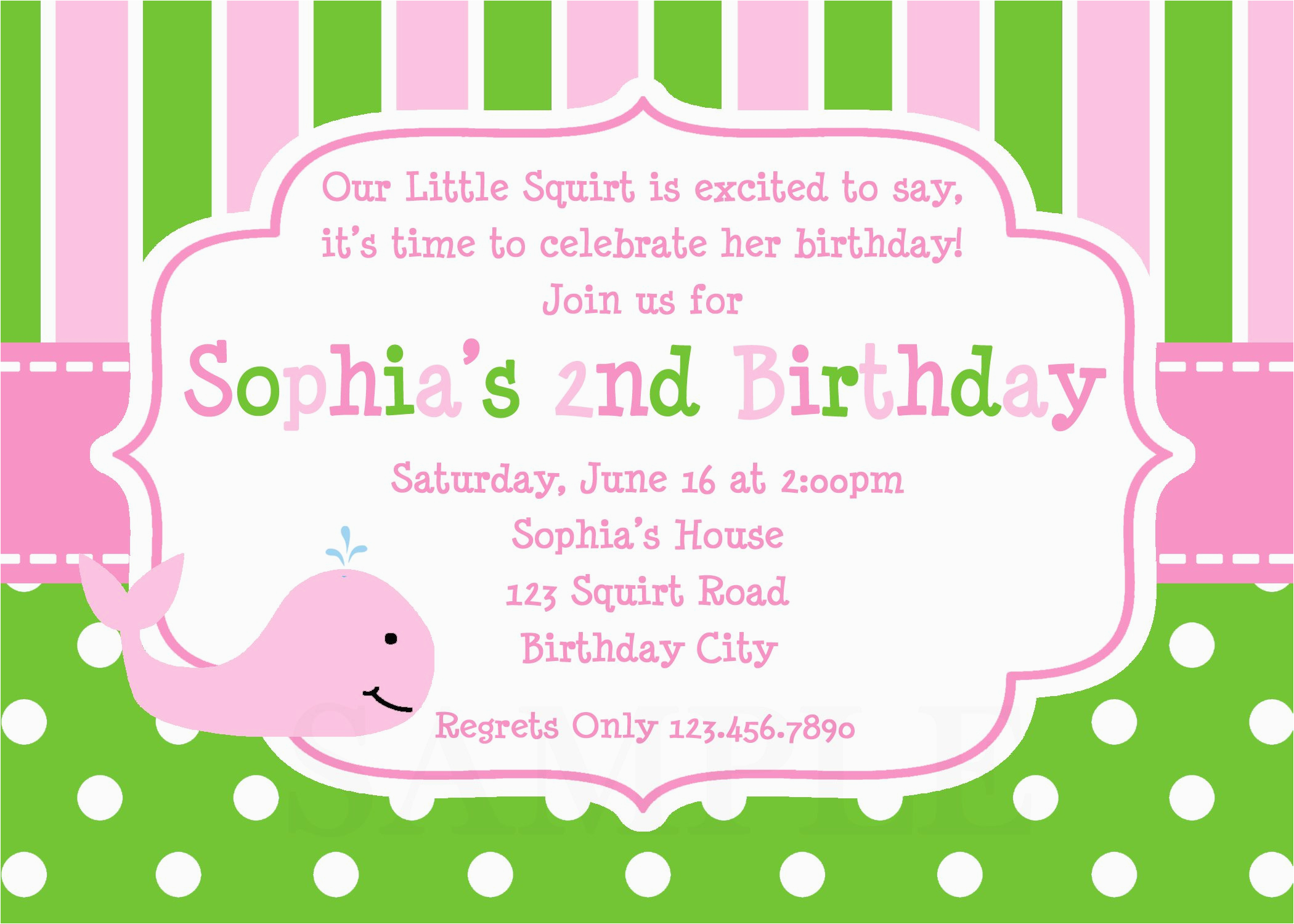 invitation birthday card templates free