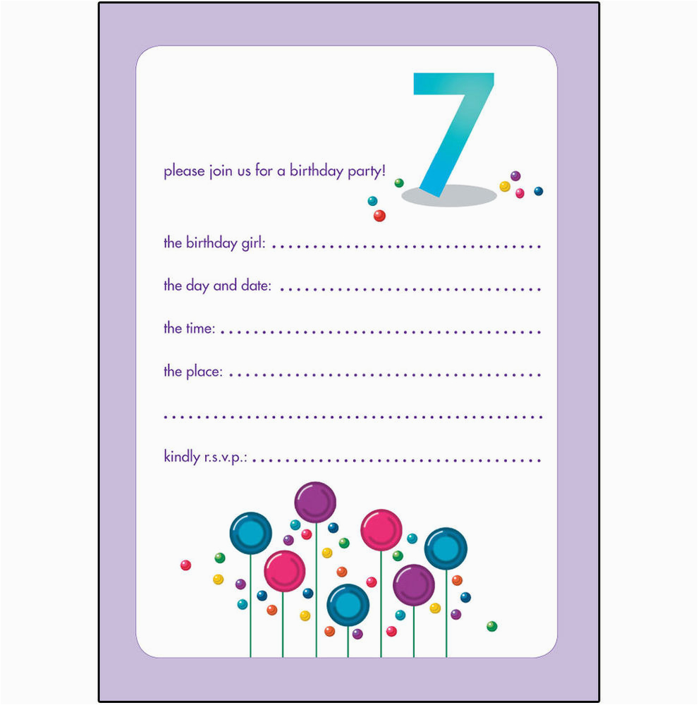 Birthday Invitation For 10 Years Old Girl Childrens Party Invitations 7