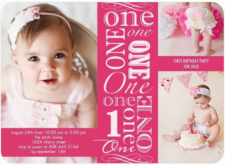 Birthday Invitation For 2 Year Girl One Old Party Invitations Ideas Free