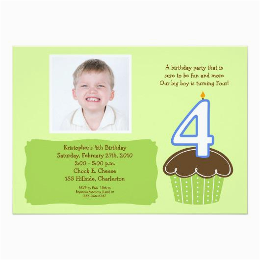 Birthday Invitation For 4 Year Old Boy
