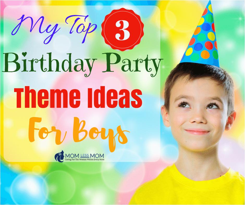 birthday party theme ideas for boys