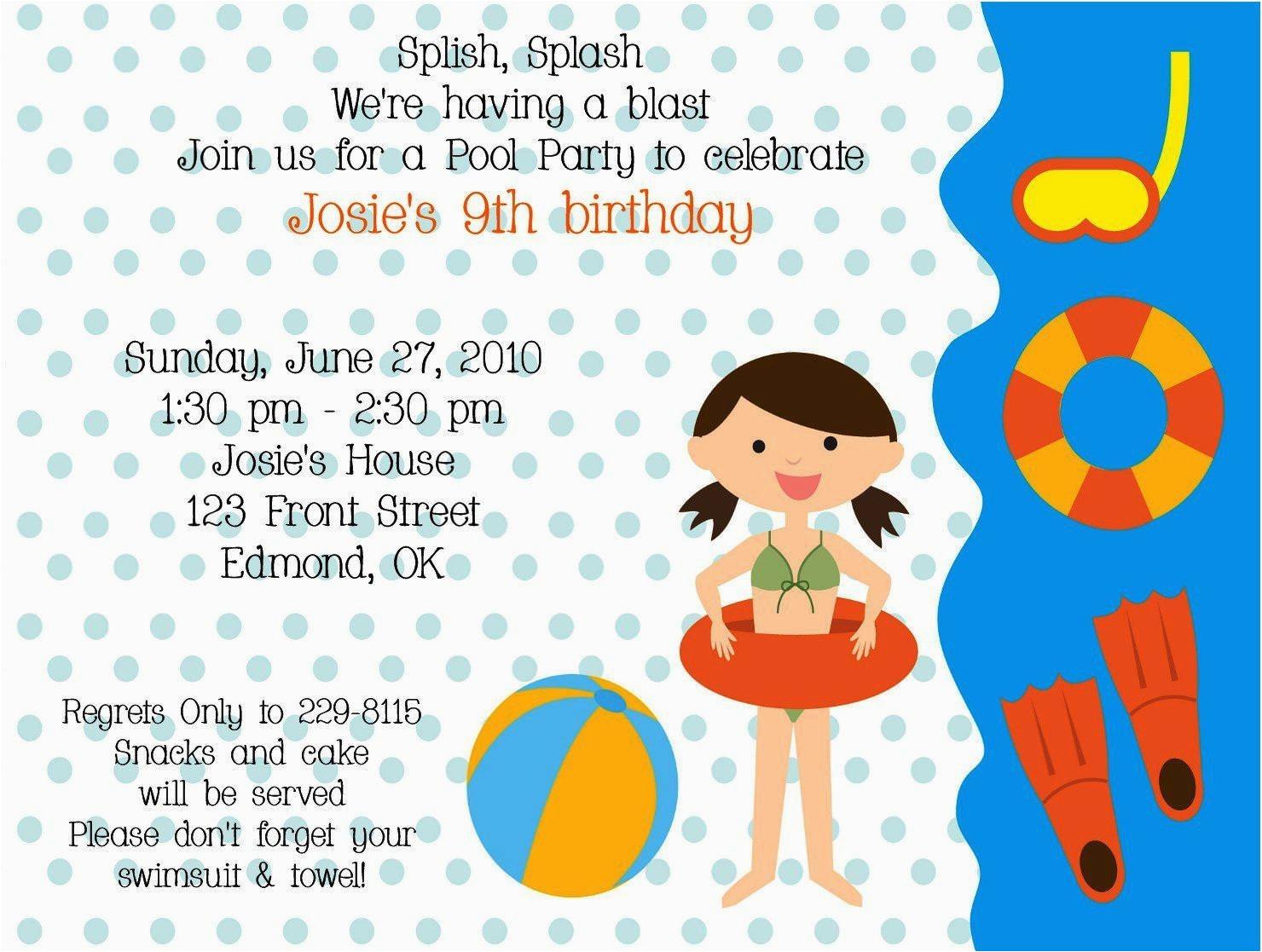 birthday invitation letter for kids
