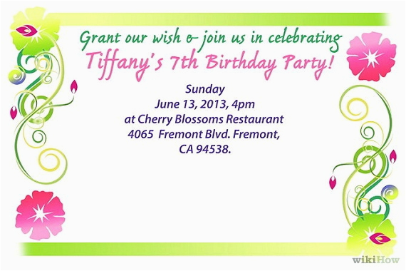 when to mail birthday invitations
