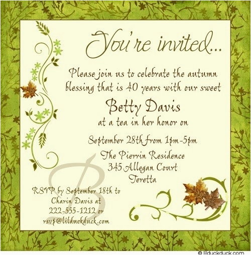 adult birthday invitation wording template