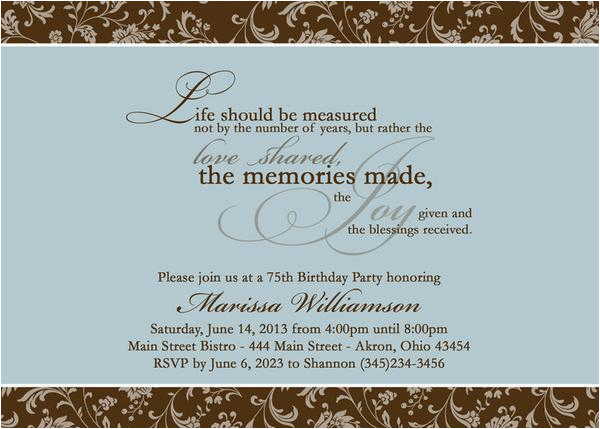 Birthday Invitation Messages for Adults Adult Photo Birthday Party Invitation T Any Colors
