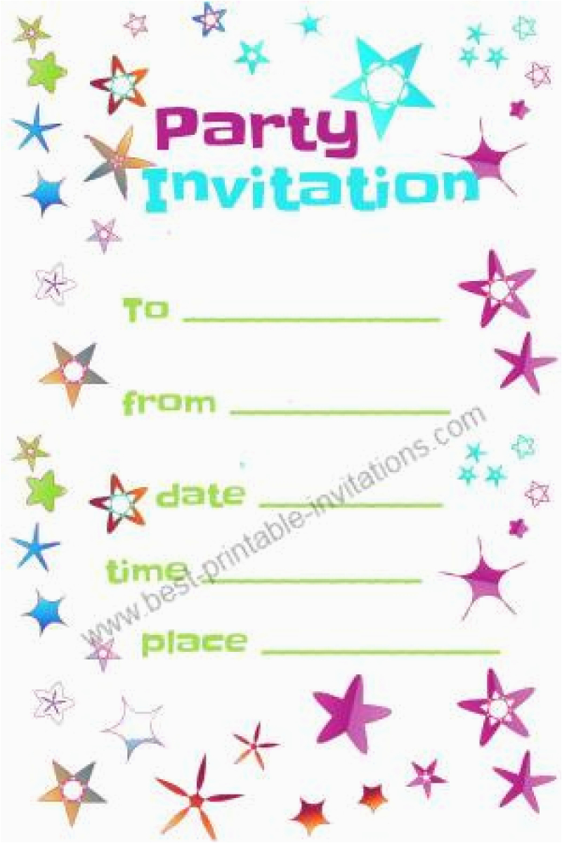 free party invitation to print out