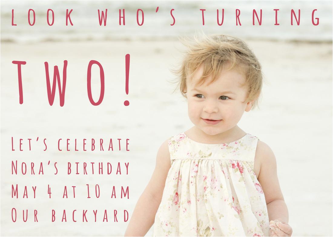 2 year old birthday party invitation wording