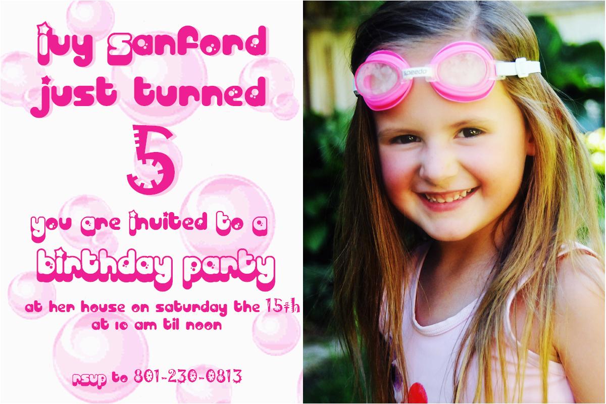 5 years old birthday invitations wording free invitation