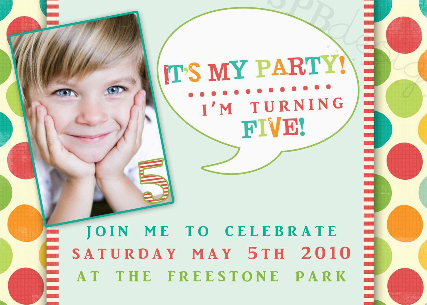Birthday Invitation Wording For 5 Year Old