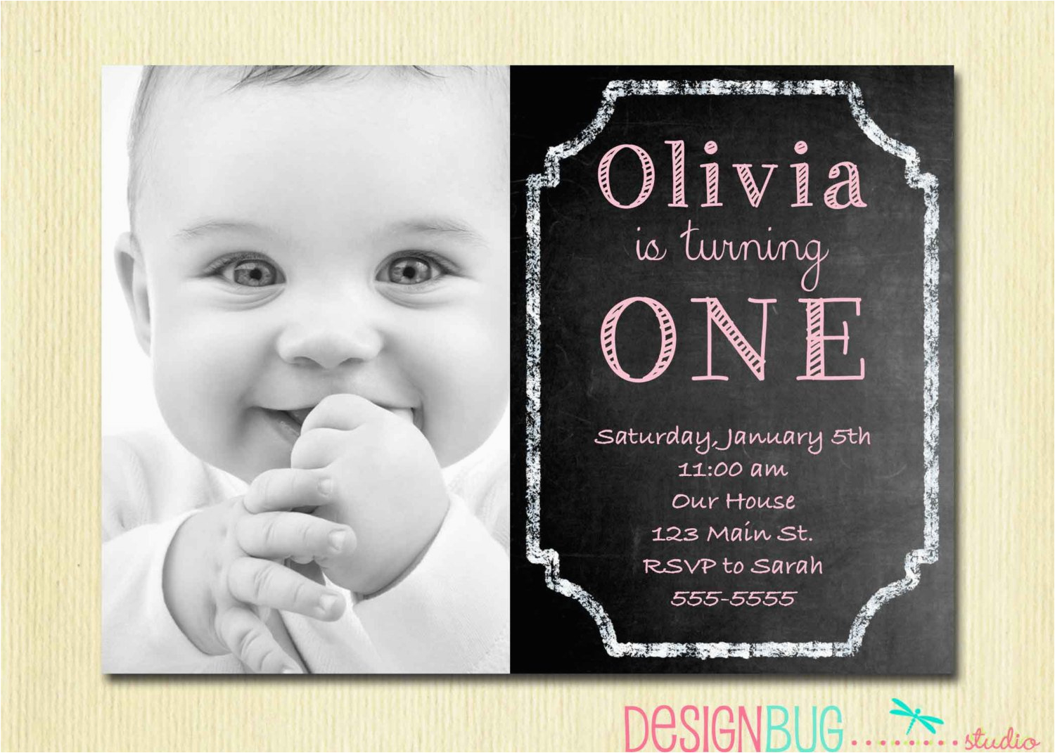 Birthday Invitation Cards For 1 Year Old Best Party Ideas