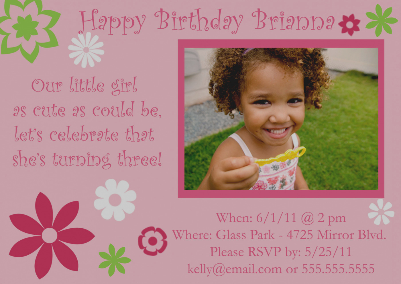 Birthday Invitation Wording For 6 Year Old Latest Of Rd 3rd Best Party