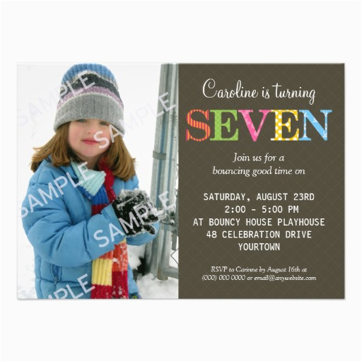 Birthday Invitation Wording For 7 Year Old Boy 7th Party Free