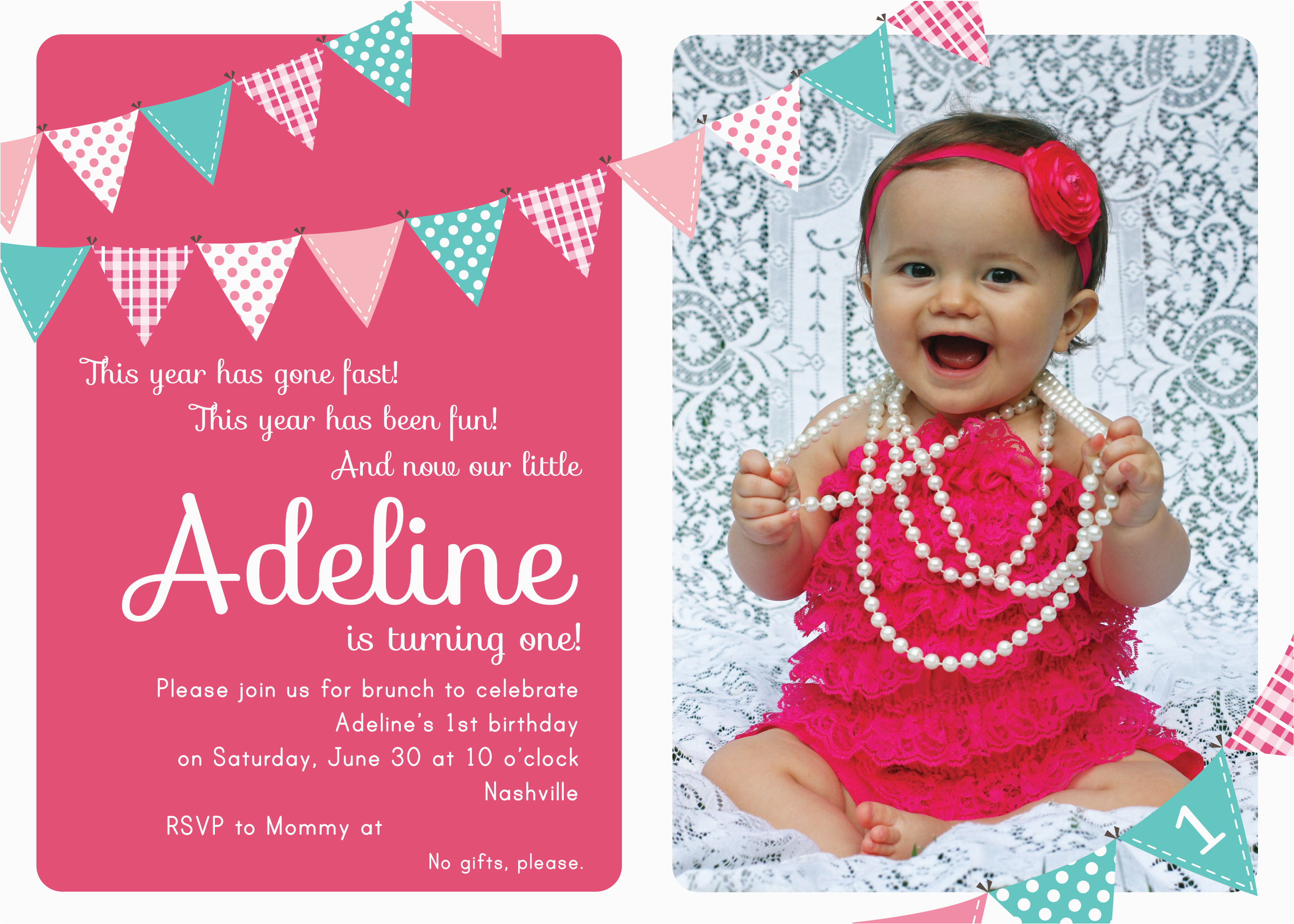 Birthday Invitation Wording for Kids 1st Birthday First Birthday Party Invitation Ideas Bagvania Free