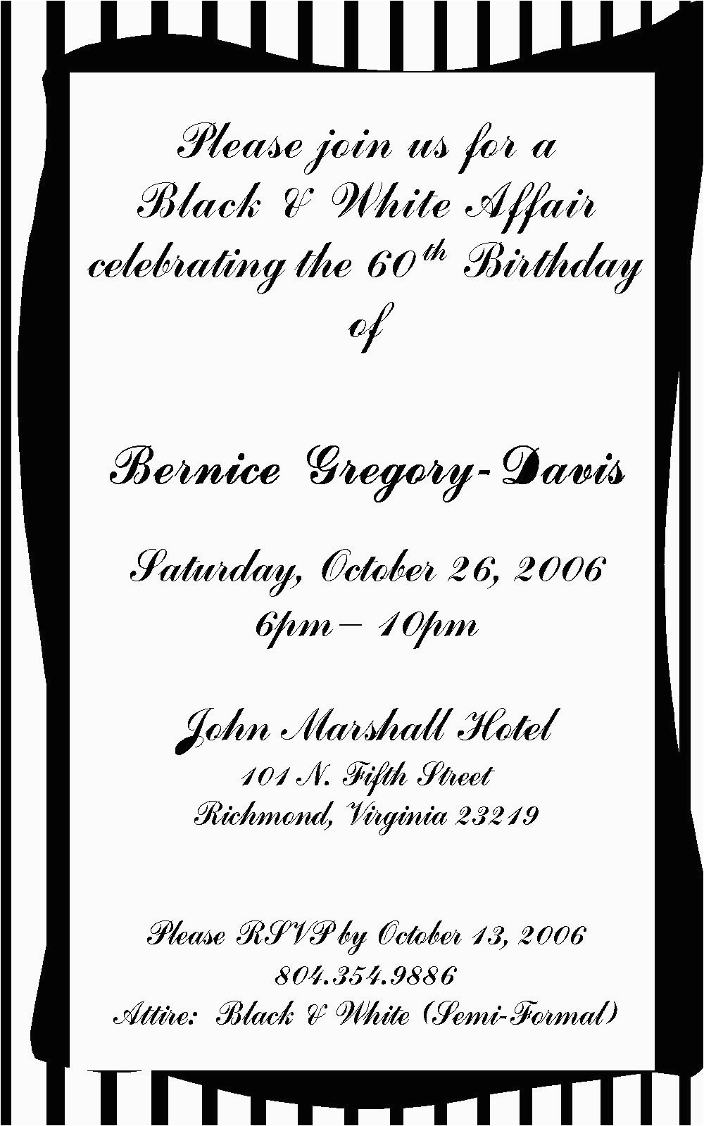 70 birthday invitation wording