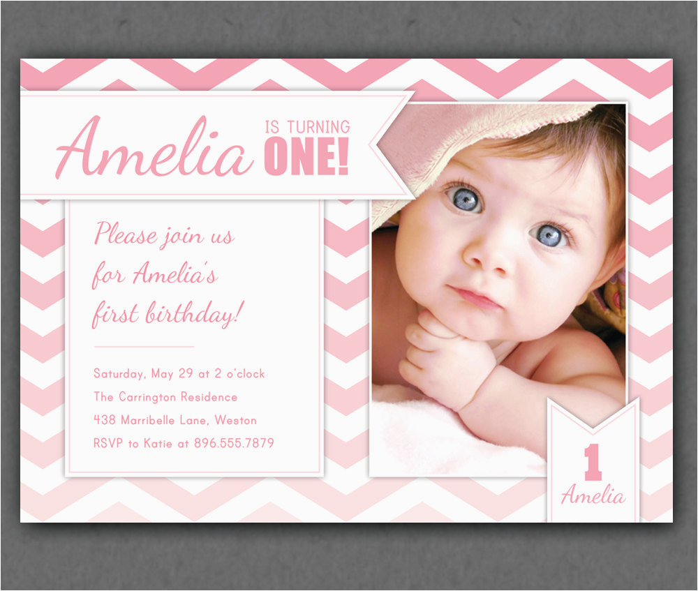 Birthday Invitation Wordings For 1 Year Old Free One Invitations Template Drevio