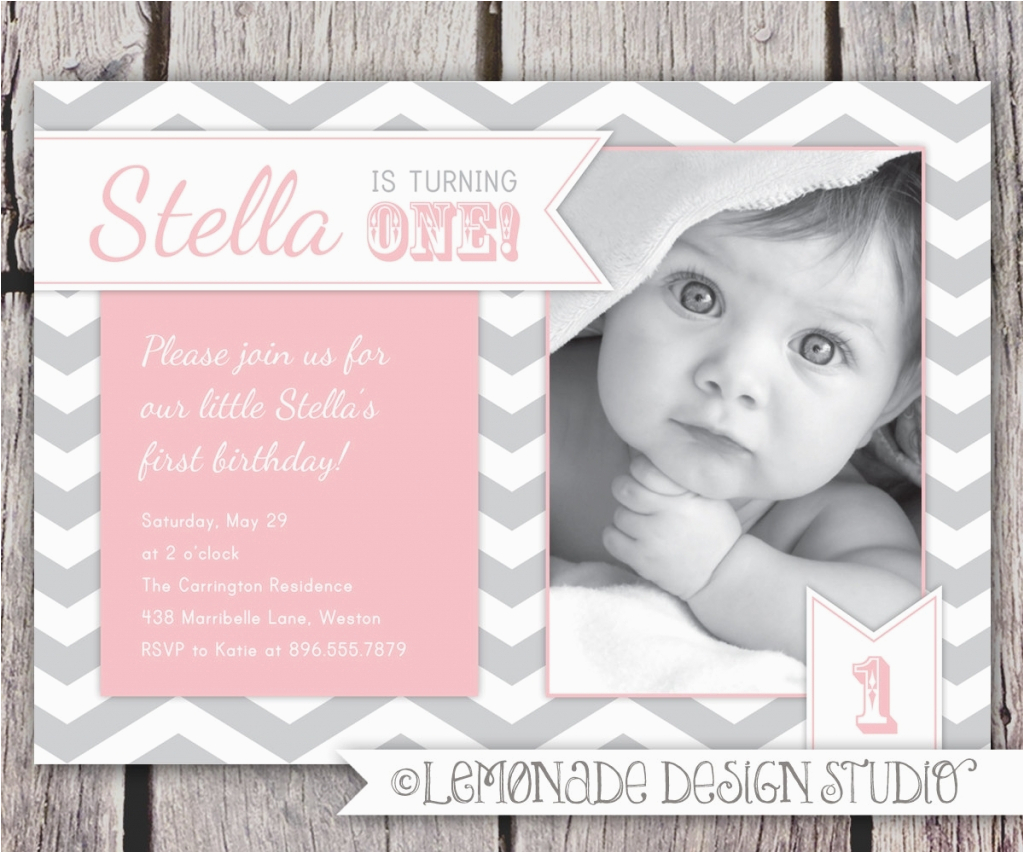 One Year Old Birthday Party Invitation Wording