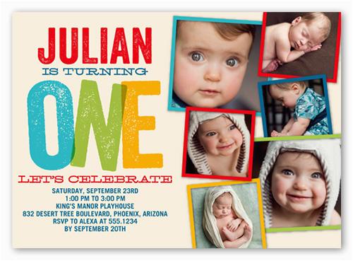 Birthday Invitations For 1 Year Old Boy