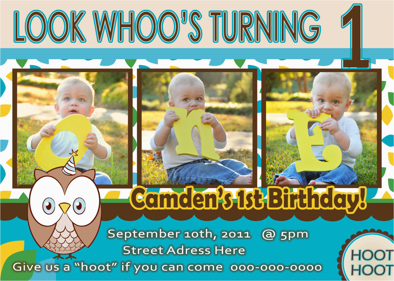 Birthday Invitations For 1 Year Old Boy Free One Template Drevio