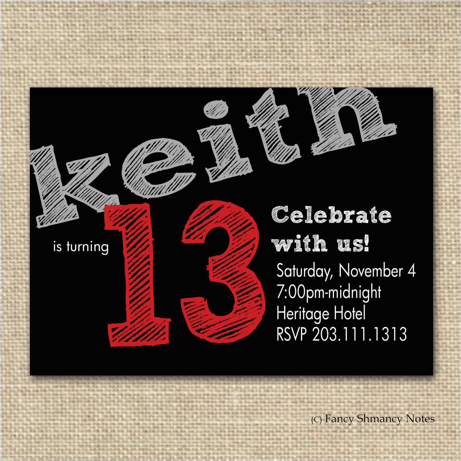 Birthday Invitations For 13 Year Old Boy 13th Party Invitation Ideas Bagvania Free