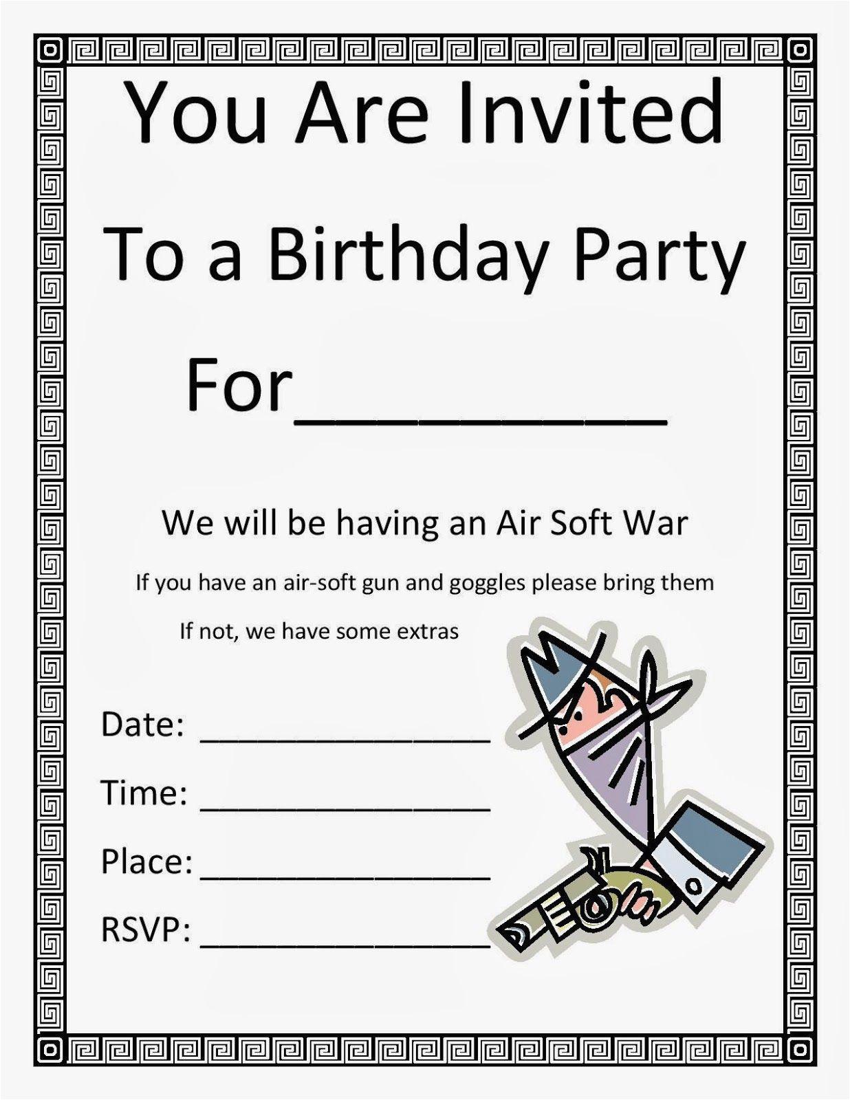 Birthday Invitations For 13 Year Old Boy Birthdaybuzz