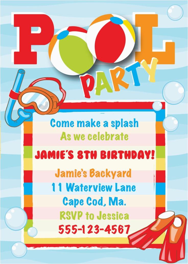 Birthday Invitations Free Download Download Swim Party Invitation orderecigsjuice Info