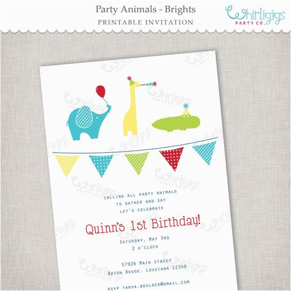 Birthday Invitations Free Shipping Party Animals Invitation