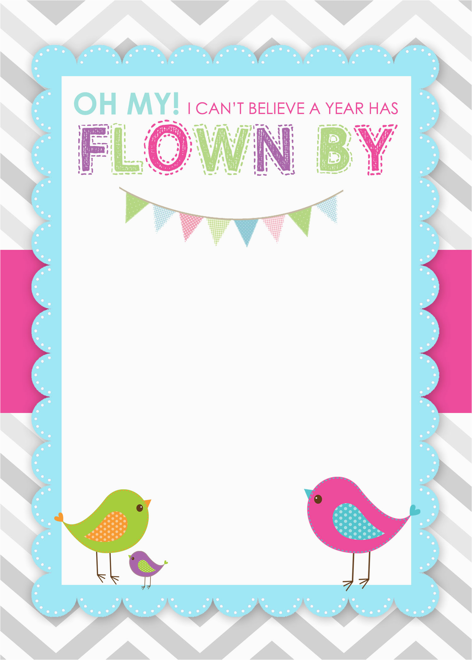 blank birthday invitations template