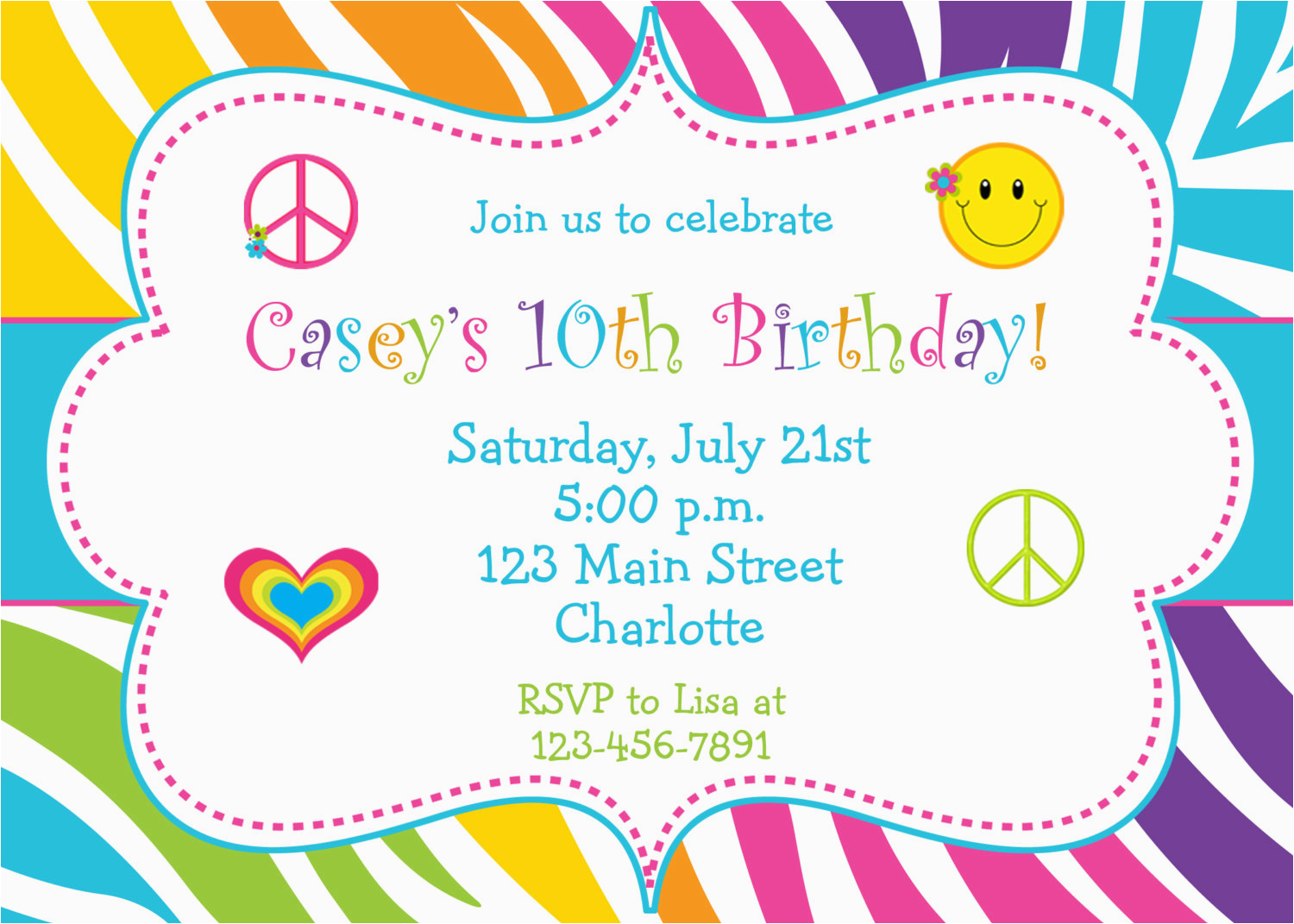 5 images several different birthday invitation maker