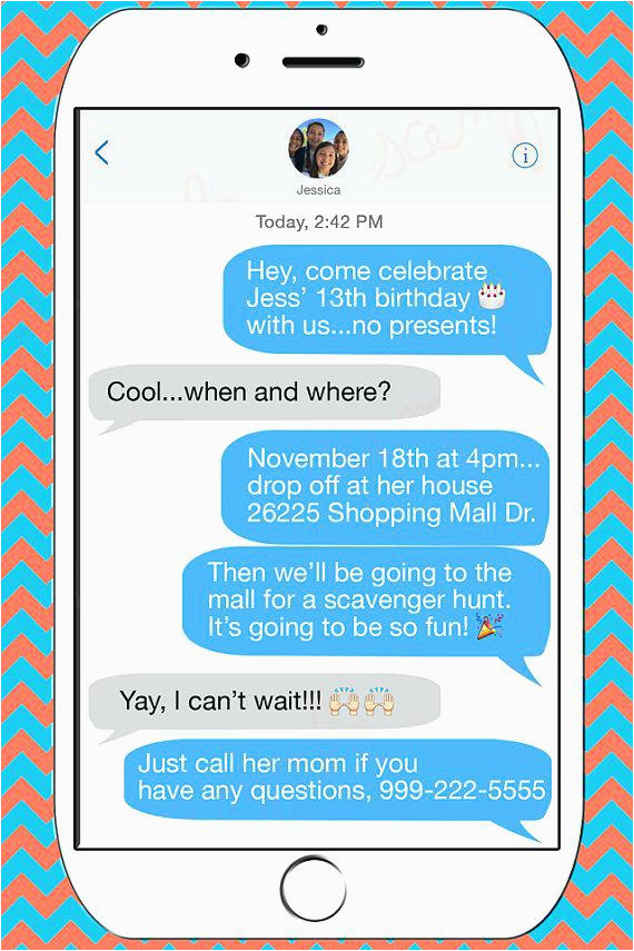 Birthday Invitations Via Text Message Free Lijicinu