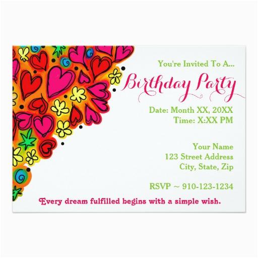create your own birthday party invitation zazzle