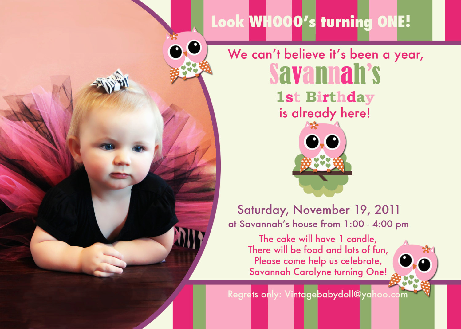1 Year Old Birthday Invitation Templates Free Best Happy