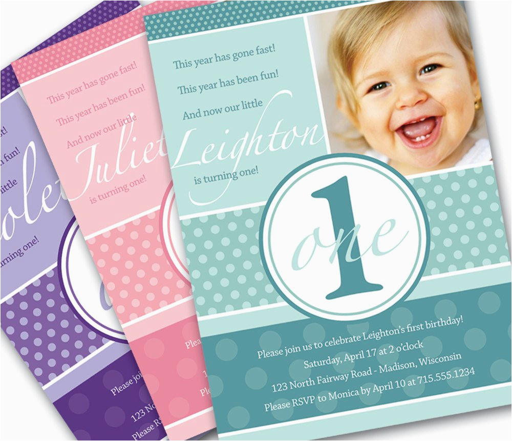 Birthday Invite Message For 1 Year Old Invitations Best Party Ideas