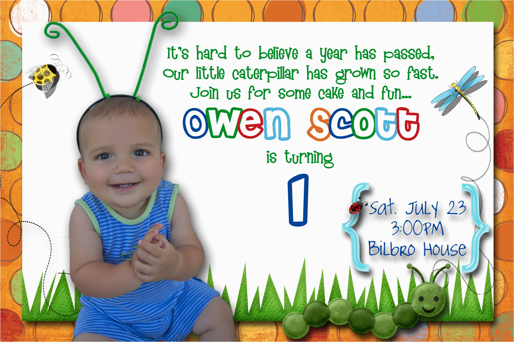 Birthday Invite Message For 1 Year Old First Party Invitation Ideas Bagvania Free