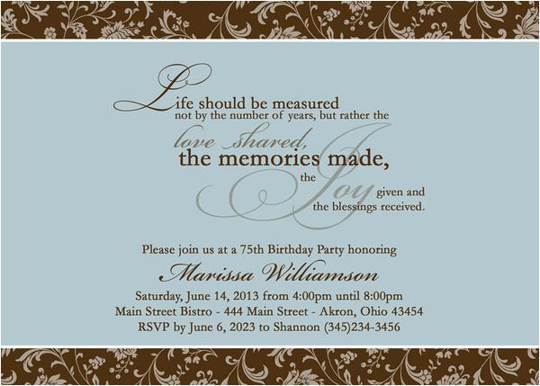 adult photo birthday party invitation t