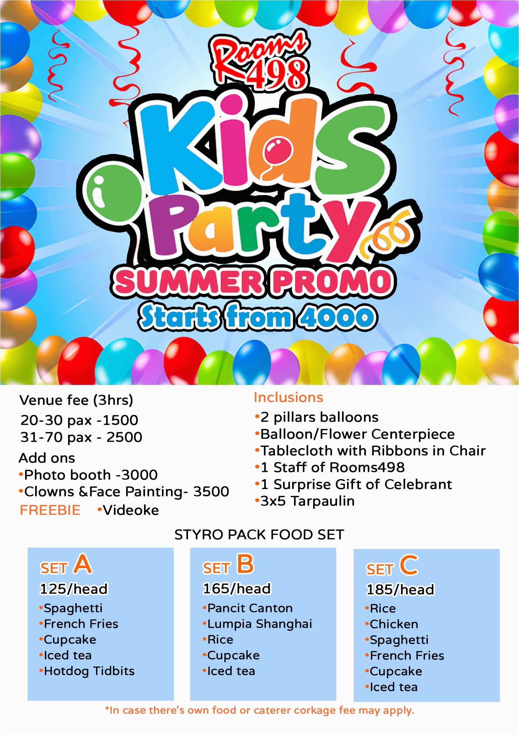 kids children birthday party venue