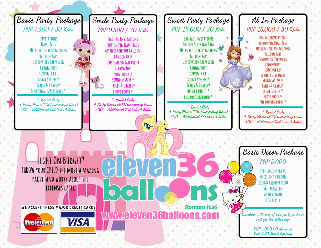 6250 party packages cebu