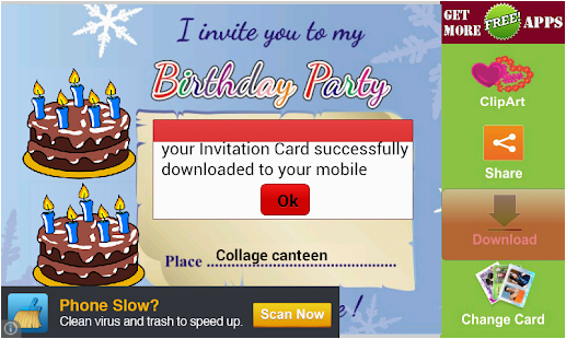 apk birthday party invitation card birthday windows phone