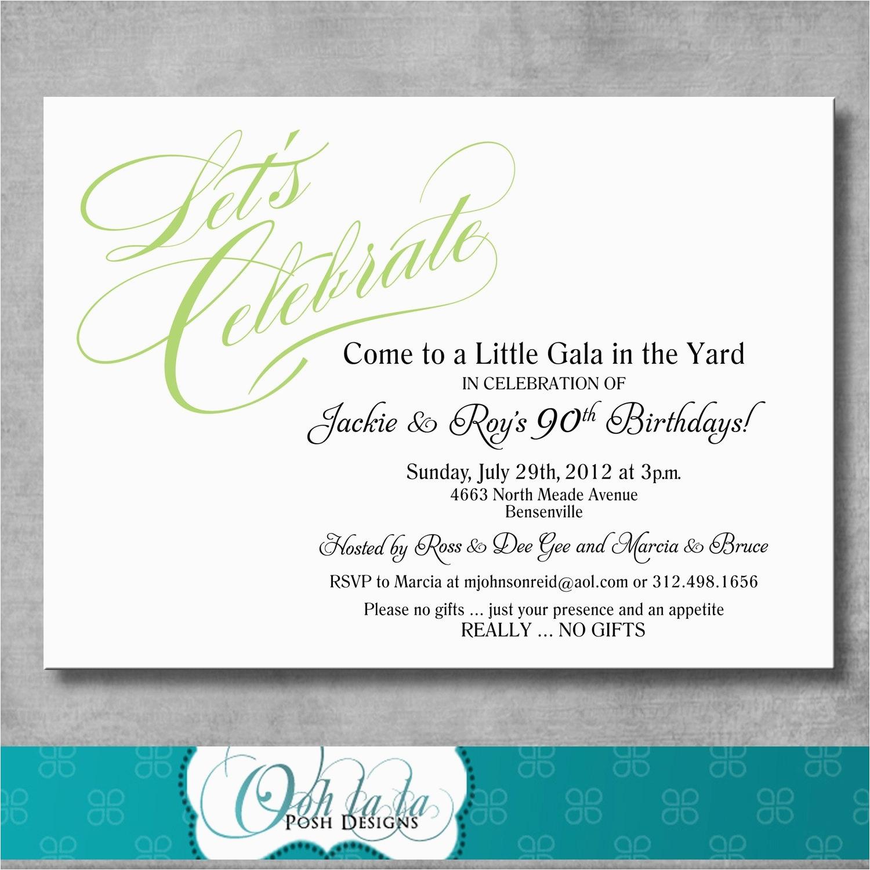 90th Birthday Party Invitations Wording