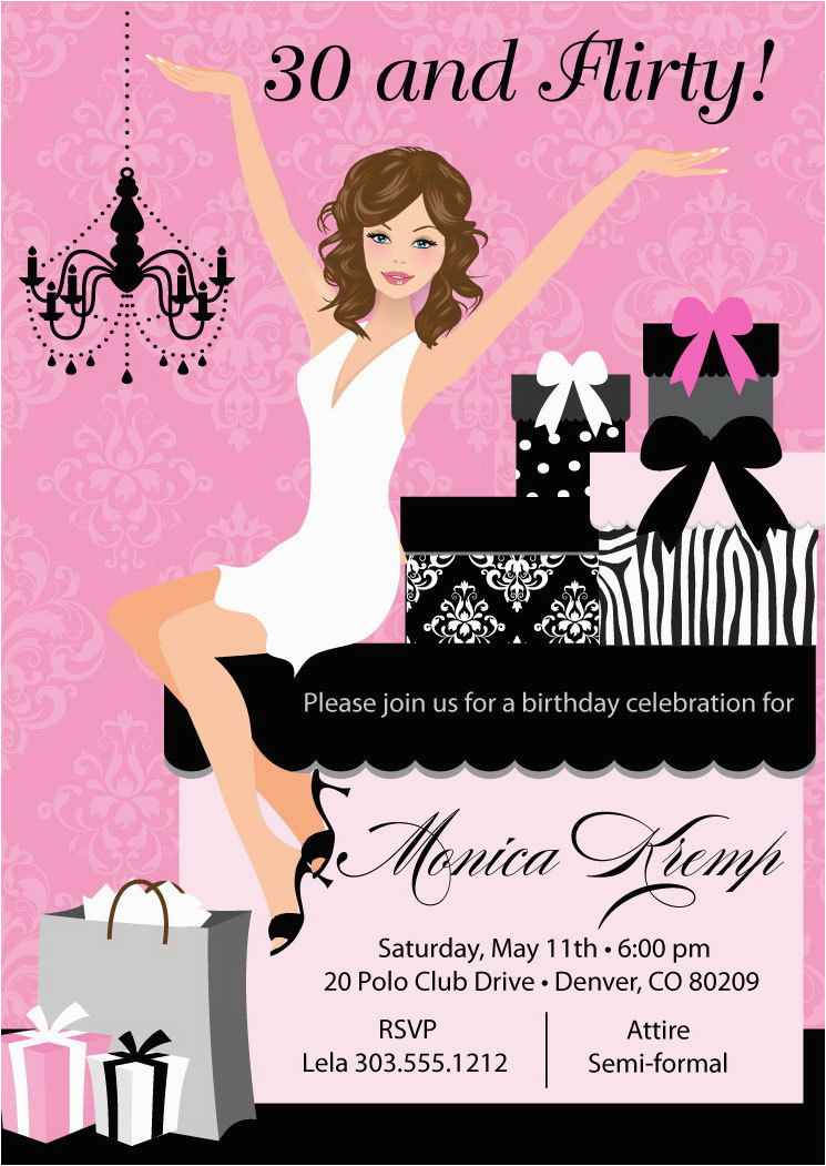 elegant gifts adult birthday party invitations