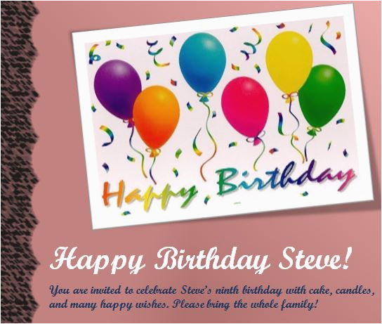 Birthday Party Invitation Templates Word 17 Free For Images