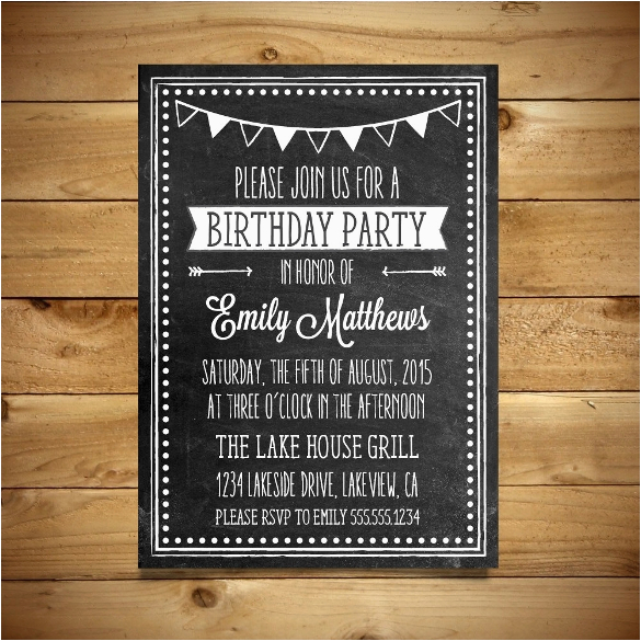 Birthday Party Invitation Templates Word 18 Ms Format