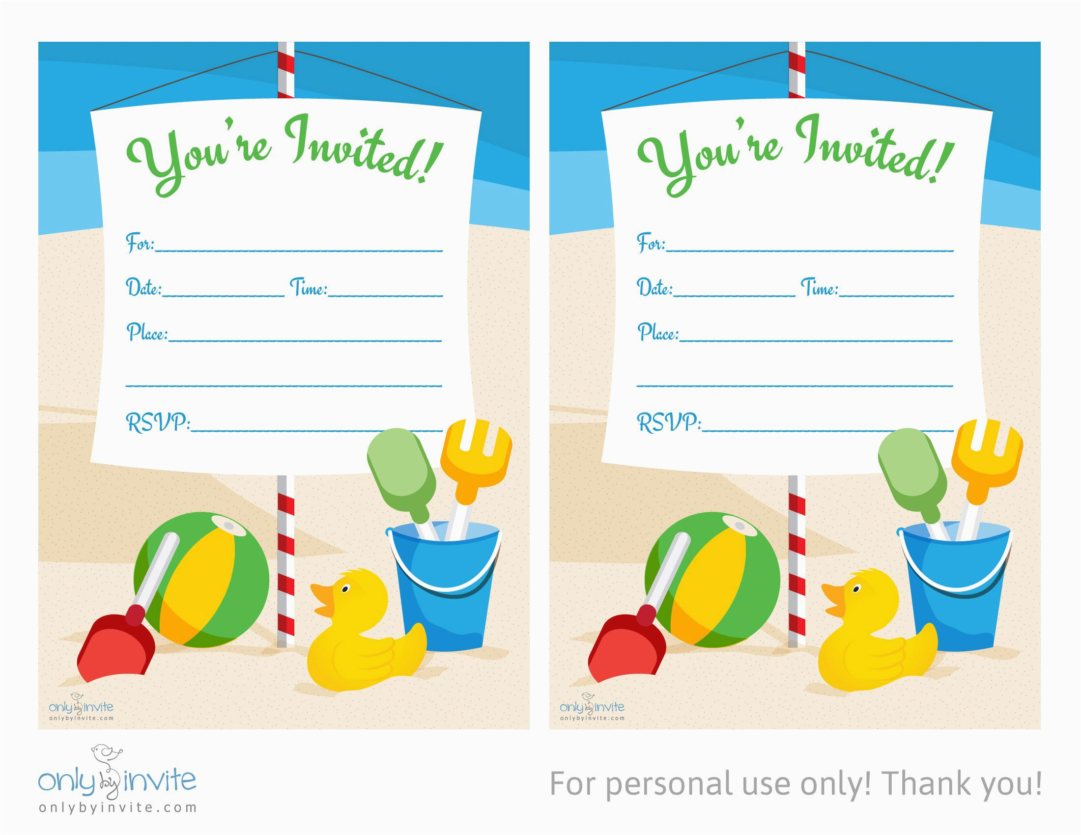 Birthday Party Invitation Templates Word Card Template Blank Free For