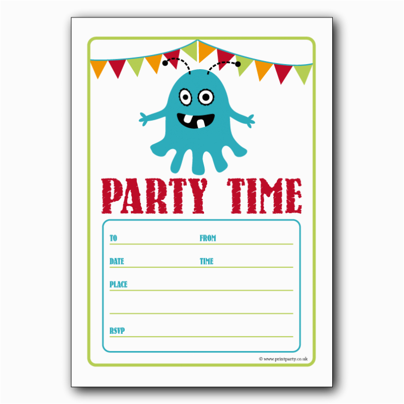 Birthday Party Invitation Templates Word Free For
