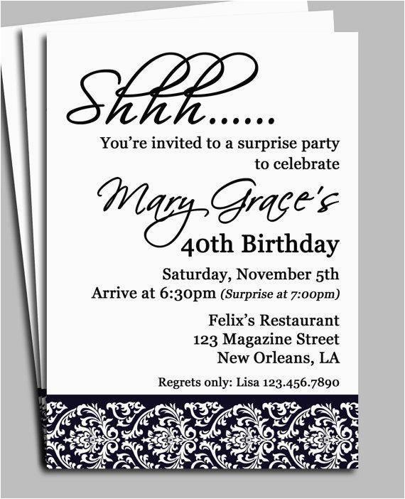 adult birthday party invitation wording a birthday cake